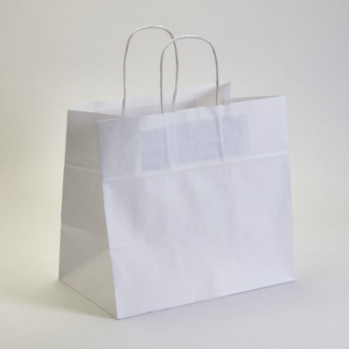 Bolsa papel con asa 32+16x31 cm