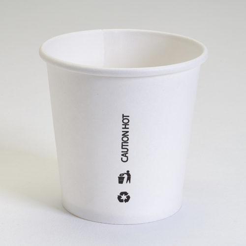 Vaso cartón blanco 120 ml ( 4 oz )