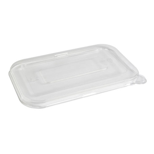 Tapa baja Pet 22,2 x 14,6 x 0,9 cm para envase recipiente bionic 710-950 ml